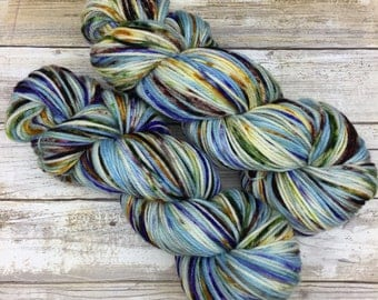 Hand Dyed Yarn | Superwash Merino Wool | Frothy DK Weight | 100 g. | Imperial Açai Blueberry