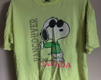 90s Waves Snoopy Vancouver Tee Shirt