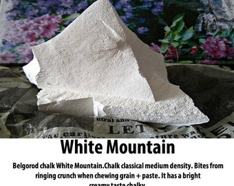 "Chalk natural,Russian chalk, edible chalk, Belgorod chalk ""White Mountain"".  Free samples."