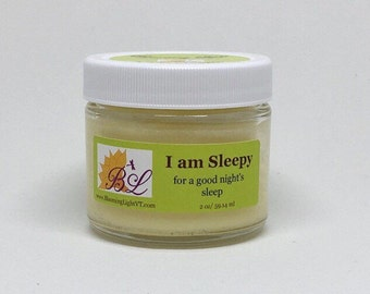 Sleep Cream - Aromatherapy Hand and Foot Cream for Sleep - 2 oz Glass Jar