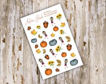 Autumn Splendor Decorative Single Sticker Sheet