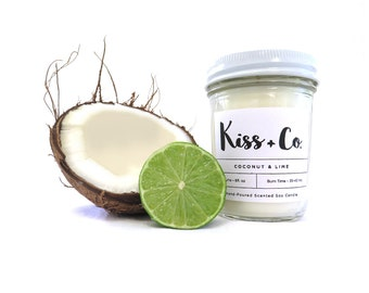 Coconut & Lime Soy Candle - 8oz