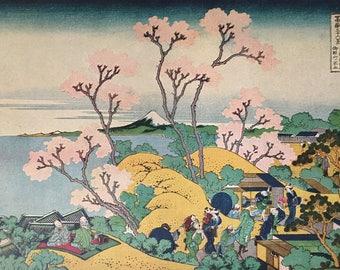 JAPAN.Fuji.1915's-Old print.Color. 11,81 ins x 9,45 ins