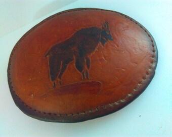 9.5cmx7cm vintage, leather buckle, leather cowboy belt buck cowboys, cowboy, buckle, Vintage leather buckle, cowboy belt buckle, cowboy