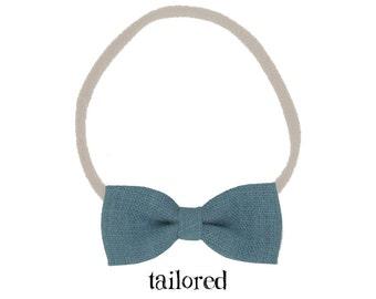 Baby Nylon Headbands / Newborn Baby Girl / Blue Baby Headband / Infant Toddler Headband / Baby Girl Bow / Baby Headbands / Newborn Headband