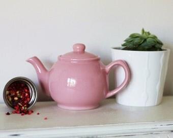 Infuser Teapot Gift Set, Pastel Pink - Herbal Loose Leaf Tea teabelly Organic Artisan Tisane Infusion
