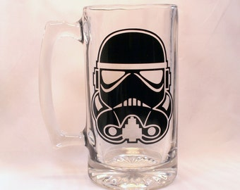 Star Wars Storm Trooper Beer Mug - Star Wars Fan - Starwars - Star Wars Gift - Stormtrooper - Dad Gift - Boyfriend gift -boy Stormtrooper -