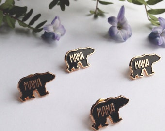 Mama bear enamel pin, enamel pin, bear pin, mama pin, enamel bear pin, lapel pin, pin badge, new mum gift, new baby gift, enamel jewellery