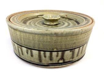 Handmade Stoneware Storage Container