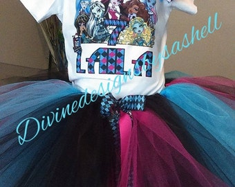 Monster High inspired tutu set