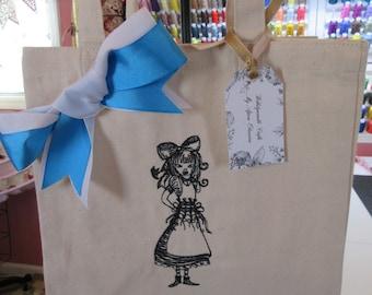 Shopping Tote Bag Wonderland Alice
