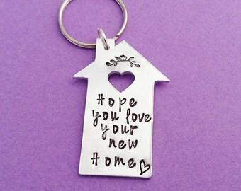 New home gift, housewarming gift, home sweet home, first home gift, new home keyring, new home keychain, house keyring, new house, home