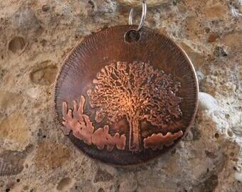 Etched Copper Pendant (041917-009)