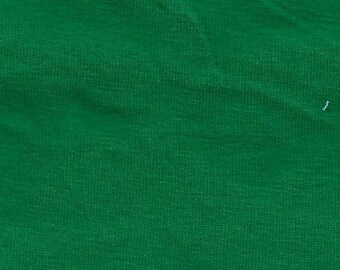 Kelly Green Cotton Spandex Jersey Knit fabric 12oz