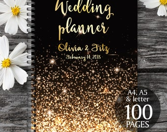 Gold wedding planner,  Wedding book, Printable wedding planner, Wedding printable binder, Printable wedding organizer, To do wedding list