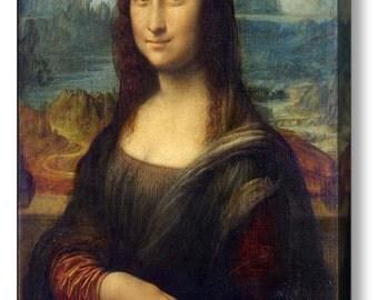 "Leonardo Da Vici ""Mona Lisa"" Canvas Box Art A4, A3, A2, A1"