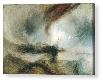 "Joseph Mallord William Turner 'Steam Boat in Snow Storm""  Canvas Box Art A4, A3, A2, A1 ++"