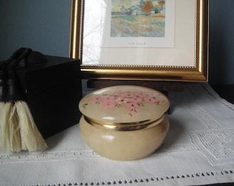 Vintage alabaster lidded jar