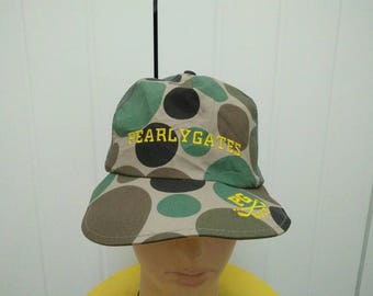 Rare Vintage PEARLY GATES Golf Cap Hat Free size fit all