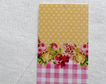 100 PRICE TAGS HANG Tags Retail Tags Boutique Tags Cute Yellow And Pink Clothing Tags With 100 Plastic Loops