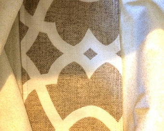 Metallic Accents on this Fun Fabric Tote