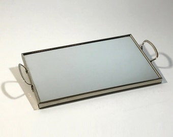 Mirror tray, Art Deco, 1930, chrome-plated