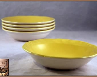 Vintage 1960's Buttercup Federalist Ironstone Bowls