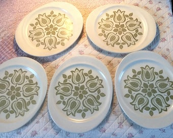 Meakin Maidstone Tulip Time Plates x5