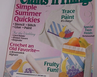 Crafts 'n Things Magazine July 1997 Ideas How To's and Tips