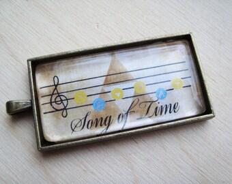 Legend of Zelda Song Keychain/Pendant (Ocarina of Time/Majora's Mask)