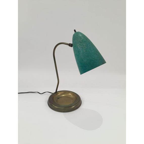 Mid-Century desk lamp with green enamel shade
