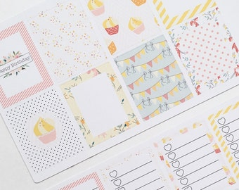 BIRTHDAY CAKE Weekly Sticker Kit 003