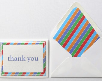 Thank You Cards - Rodan and Fields Thank You - Chunky Diagonal Stripe