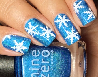 Snowflake Holiday Christmas Nail Vinyl Fingernail Art Stencils