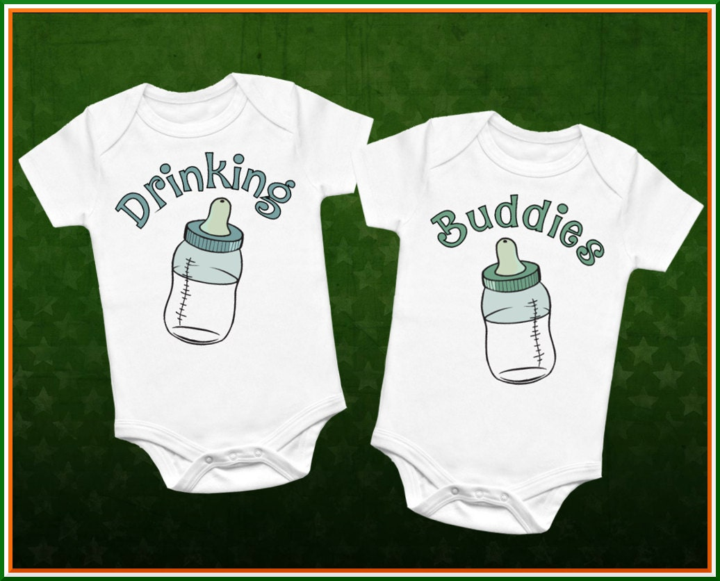 Drinking Buddies Onesies Set, Twin Onesies, Twin Matching Outfit, Funny Baby  Clothes, Baby Shower Gift, Twin Outfit Set Newborn Photos