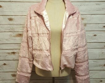 Vintage, 1990's, Carolina Colours faux fur/ faux suede pink jacket, XL