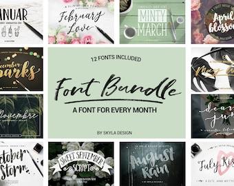 Font Bundle, handwritten fonts, modern brush fonts, Modern calligraphy font, font download, brush script, cute font, wedding fonts