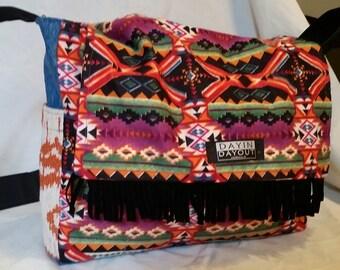Super Fun and Funky Reversible Messenger Bag