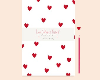 Notebook, Notebook A5 red hearts