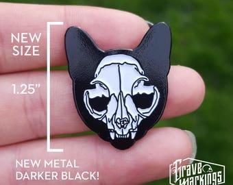 Cat Skull Enamel Pin