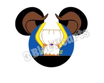 Beast Mickey Head SVG dxf pdf Studio, Beast SVG dxf pdf Studio, Beauty and the Beast SVG dxf pdf Studio, Belle, Disney svg dxf pdf studio