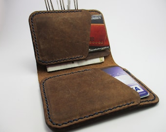 Veg tanned brown Leather wallet