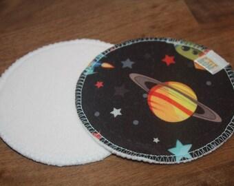 Pair of ready-to-go - space - nursing pads