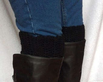 On SALE Now, Best Selling, Crochet Boot Cuffs in Black