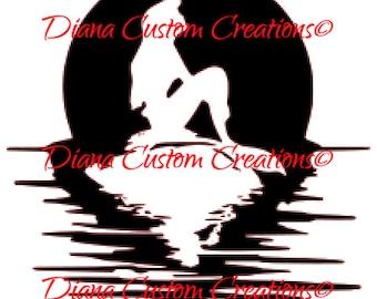 Little Mermaid svg, dxf, png, jpg, eps digital download digital file Cricut and Silhouette