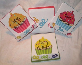 Happy Birthday Mini Nail File Cover and Files for Purse or Pocket