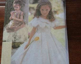 Simplicity 5216 Girls Flower Girl's Dress Sewing Pattern
