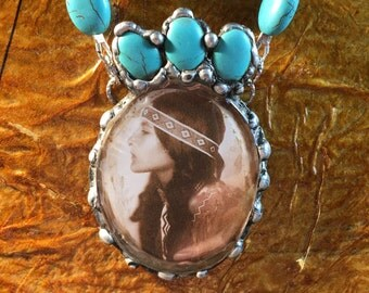 Necklace - My Native American Princess - Turquoise Beads