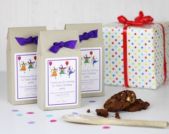 Personalised Party Themed Chocolate Chip Cookie Mix Party Bag