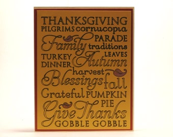 Thanksgiving card, Subway art